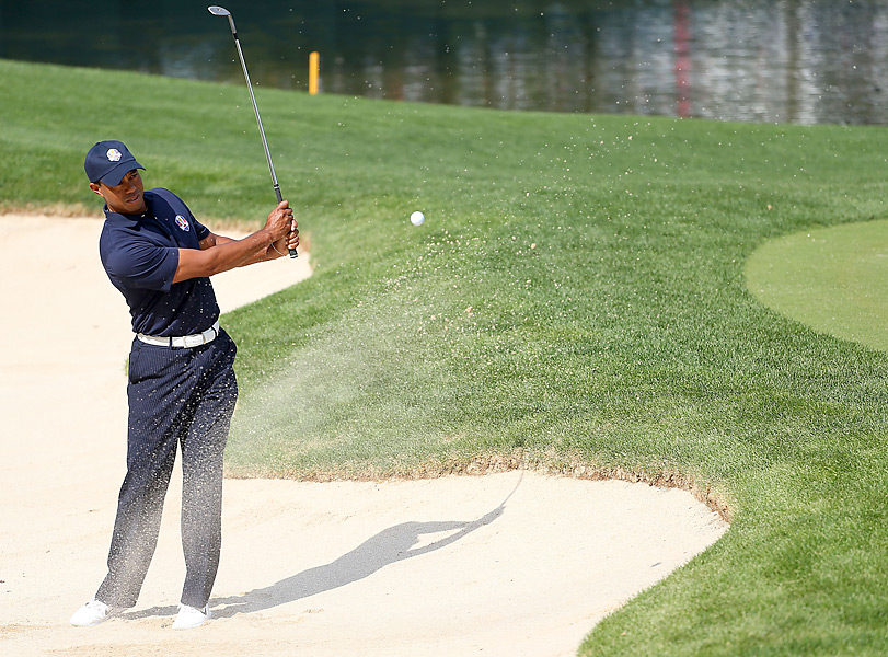 Woods is 13-14-2 in Ryder Cup play.