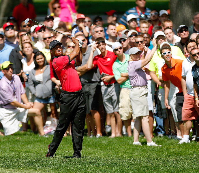 Woods made 16 pars on Sunday, with one bogey and one birdie.