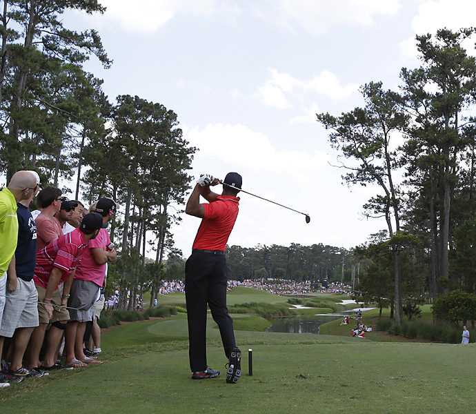 Woods earned his fourth victory of the season.