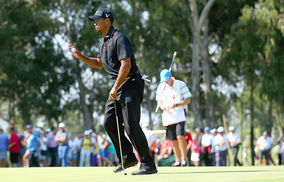 Woods shot a 70 in the opening round.