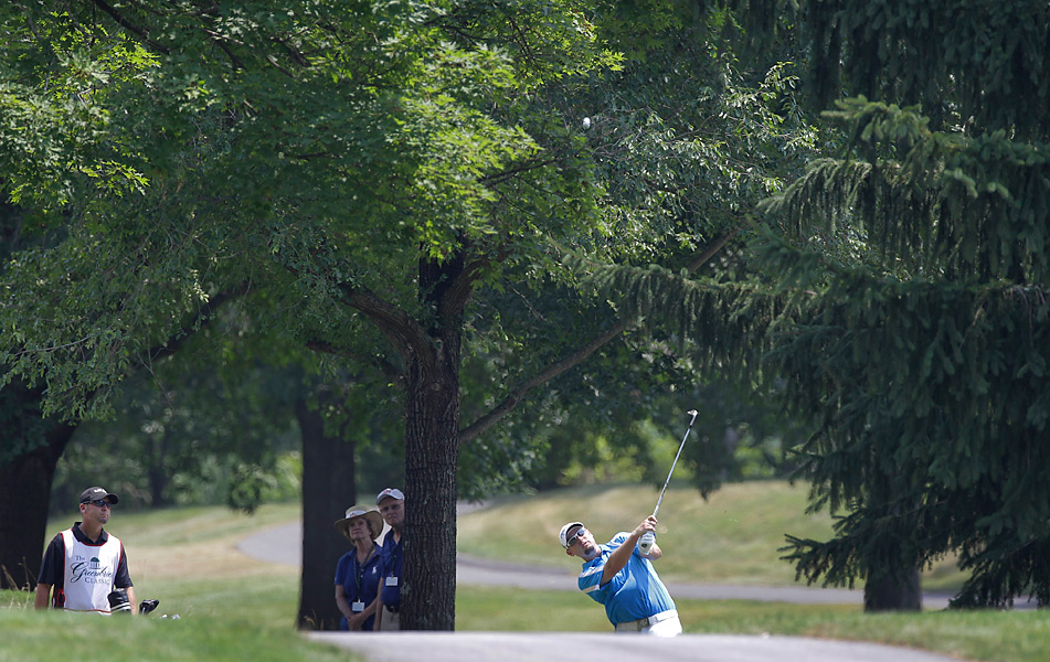 Troy Kelly shot a four-under 66, but lost on the third hole of sudden death.