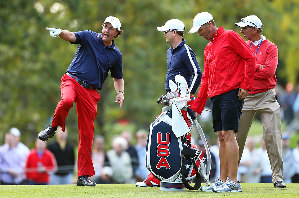 Phil Mickelson had some pointers for Zach Johnson.
