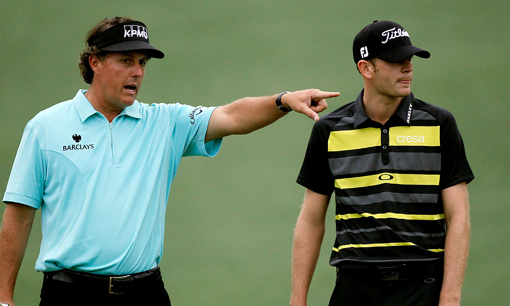 Phil Mickelson played a round with Brendan Steele.