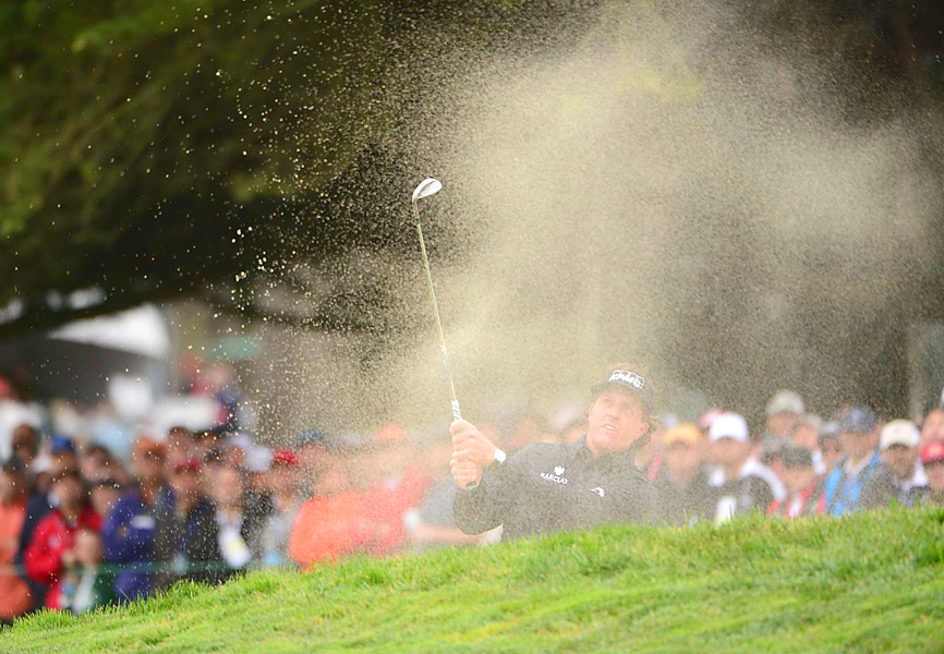 Mickelson continued to struggle early, making four bogeys in his first six holes.
