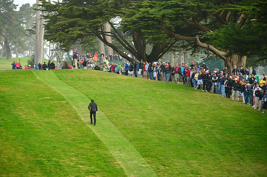 Mickelson had to take the long walk back to the ninth tee, where he had to re-load.