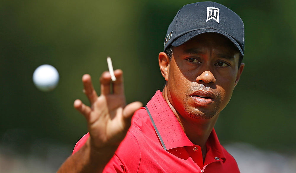 Woods was seeking his fourth win of the year.