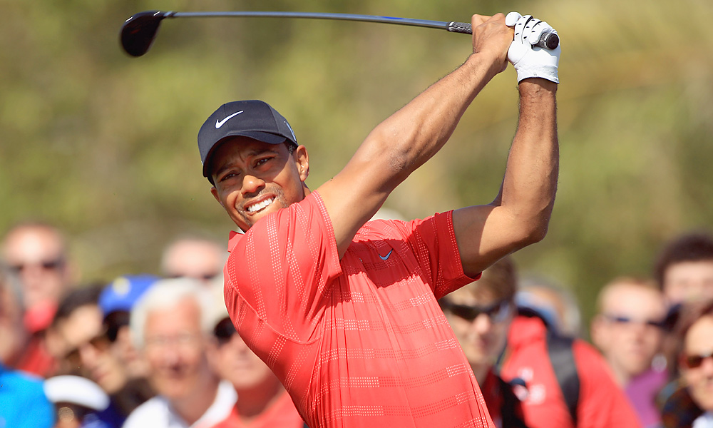 After controlling his long game most of the week, Woods was erratic off the tee on Sunday.