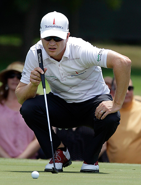 Zach Johnson failed to replace his ball in the correct spot after he moved his mark on the 18th green. But after a two-shot penalty, he still won the Colonial by one stroke.