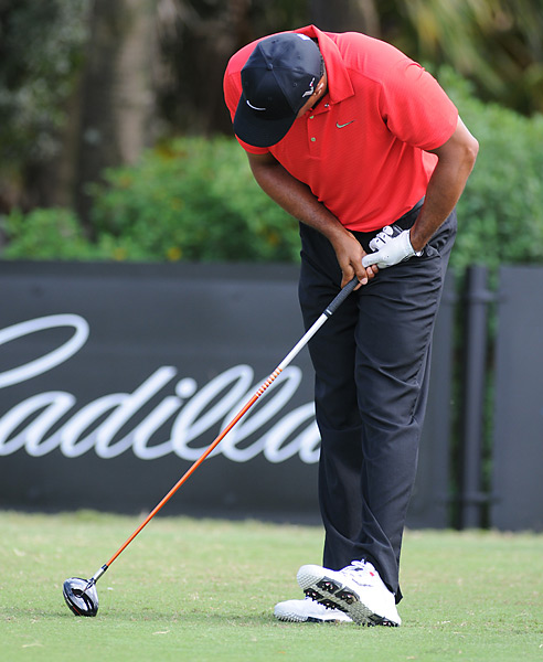 Woods's season took a turn for the worse at the WGC-Cadillac Championship the next week. He withdrew from the event in the middle of the final round and cited a sore Achilles tendon. It spurred doubters to question whether Woods would ever remain healthy for a long enough period to regularly win on Tour again.