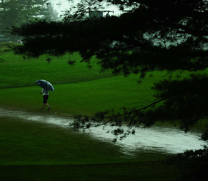 Early in the week, Merion was hit with heavy rains that created small flooding on the course. It playable in time for Thursday's opening round.