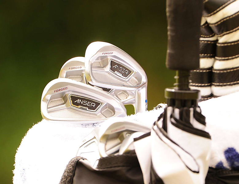 During the offseason, Hunter Mahan switched to Ping's new Forged Anser irons.