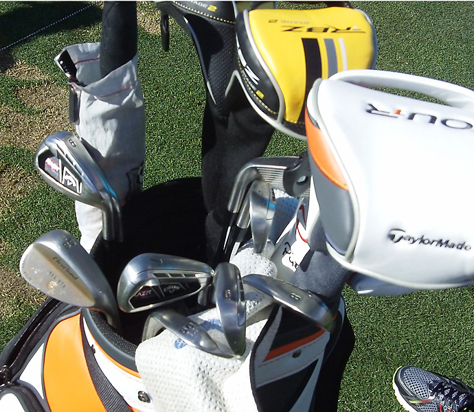 Henrik Stenson has a mixed bag that includes Callaway RAZR X Tour irons.