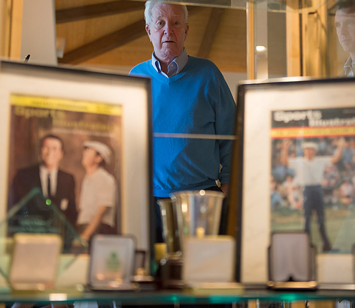 Ken Venturi's collection of memorabilia, much of which is headed to the World Golf Hall of Fame, includes Sports Illustrated covers from 1964. At left, Sportsman of the Year; at right, his U.S. Open victory.
