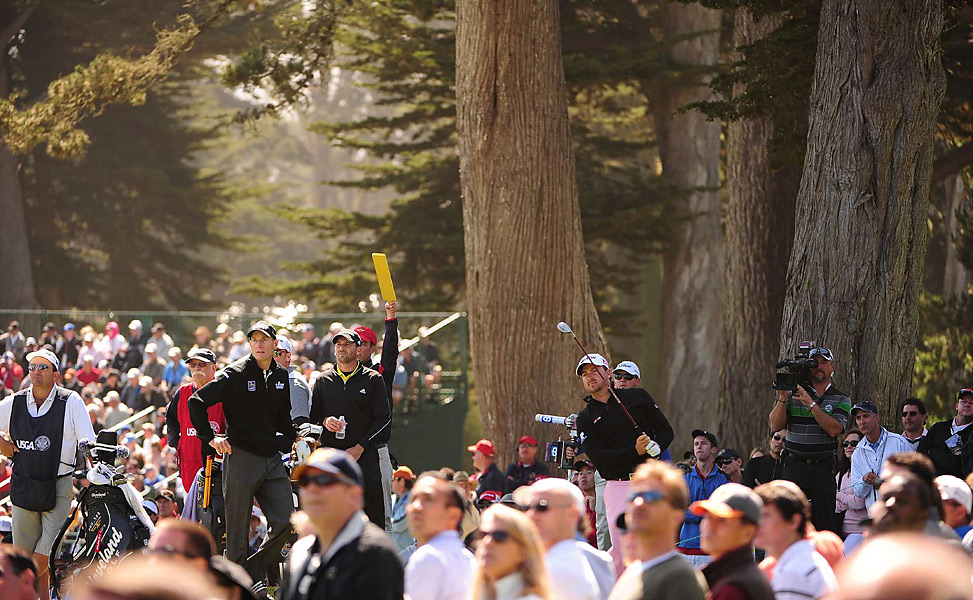 McDowell was grouped with Furyk and Sergio Garcia