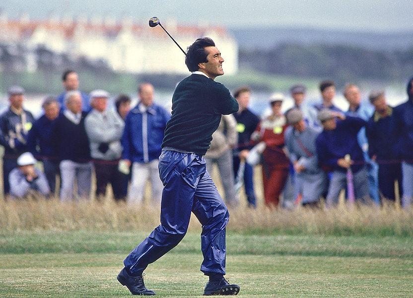 Seve Ballesteros at the 1986 British Open at Turnberry.