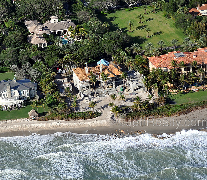 Jeff Lichtenstein, a real estate agent in Palm Beach County, has published new photos of Elin Nordegren's under-construction mansion. Here are some aerial photos.