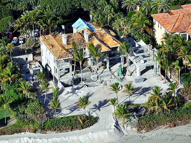"From the realtor's website: ""What appears to be a 3-story structure, directly on the ocean, is mostly poured concrete to protect it from the direct hurricane force winds."""