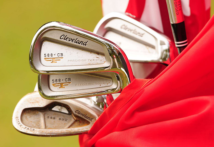 Charlie Beljan attacks the pins with these Cleveland Forged 588 CB irons.