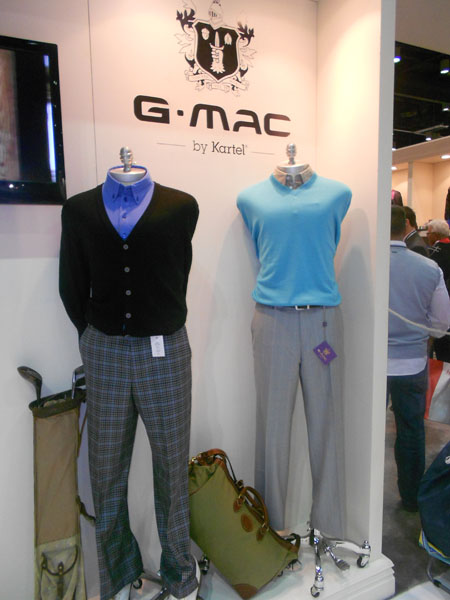 Graeme McDowell's apparel brand, G-Mac by Kartel, caused a stir when McDowell arrived to sign autographs at the show on Thursday afternoon.