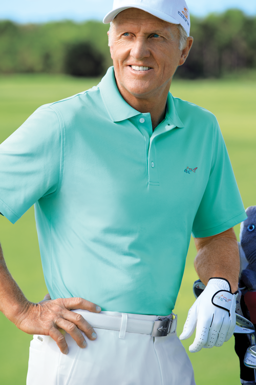 Greg Norman for Tasso Elba 5 Iron Performance Polo ($45; macys.com): Stay cool on the course with Greg Norman's moisture wicking PlayDry technology and protect your skin with UV-ray minimizing UPF sun protection.