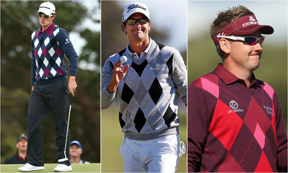 Golf Magazine associate editor Jessica Marksbury looks back at the highs and lows from the year in fashion.                                                      BEST ARGYLE: The best thing about argyles and diamond prints is versatility. Adam's Scott's Aquascutum iteration is bold and classic (center), while both Justin Rose's Ashworth (left) and Ian Poulter's IJP Design sweaters incorporate brighter colors for a more modern look.