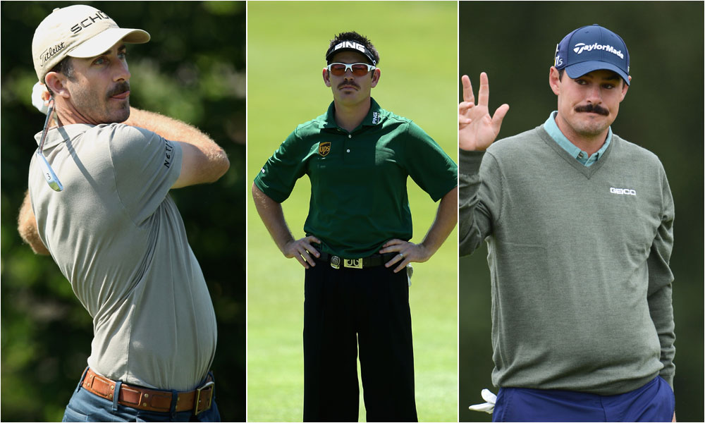 WORST MUSTACHES: Geoff Ogilvy, Louis Oosthuizen, Johnson Wagner, you're all very handsome men, and while I appreciate everything the Movember mustache-growing movement stands for, I think I can safely speak for 99 percent of women when I say...please shave!