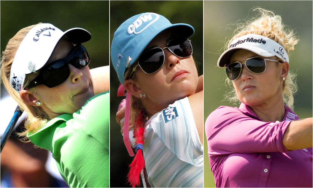 BEST SUNGLASSES: Morgan Pressel, Paula Creamer and Natalie Gulbis represent one of my favorite trends of the year: oversized fashion-forward sunglasses that transition seamlessly from the course to the street.