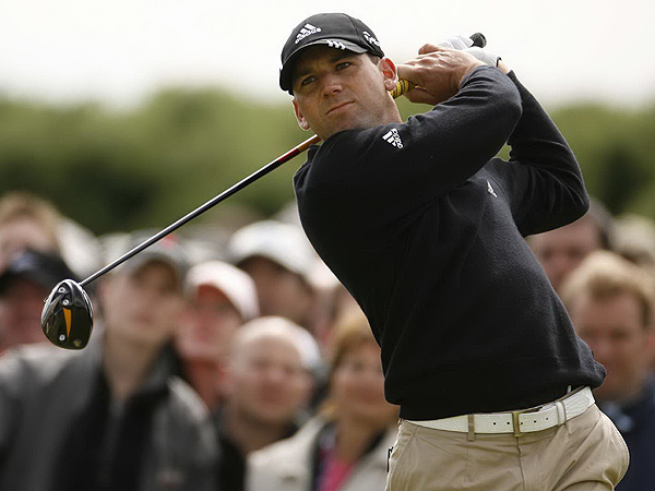 Steady as He Goes                       Sergio Garcia made two birdies and two bogeys on the way to an even-par 71 on Friday at Carnoustie. He is six under for the tournament and at the top of the leaderboard.