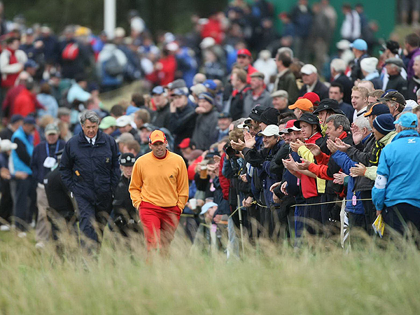 Large crowds have been following Garcia, who is trying to win the first major of his career. He is also trying to become the first European to win a major since Paul Lawrie won the Open at Carnoustie in 1999.