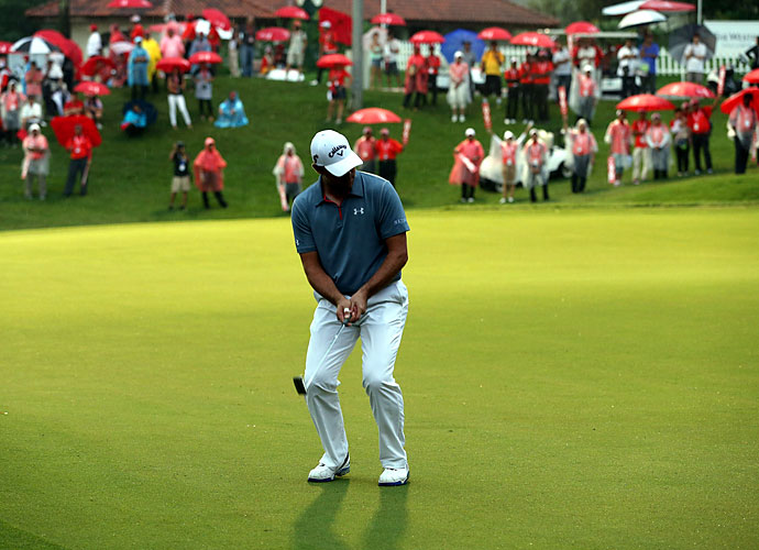 Woodland had a chance to win the title on 18, but he missed a 10-foot birdie putt by an inch.