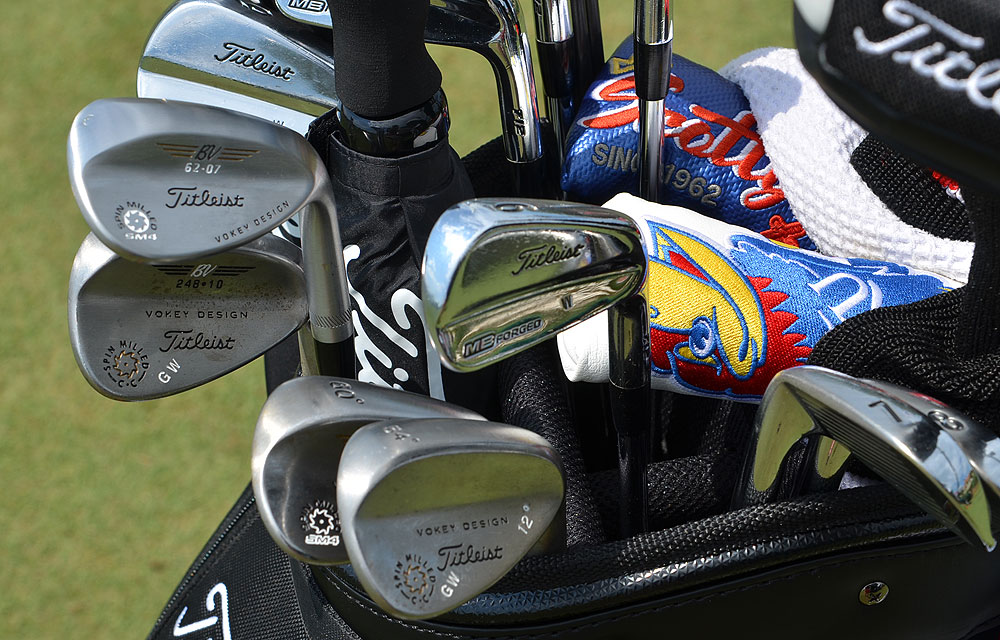 Gary Woodland uses Titleist Vokey Design pitching wedge and gap wedges, but prefers the new Titleist Vokey Design SM4 for his 60° and 62° lob wedges.