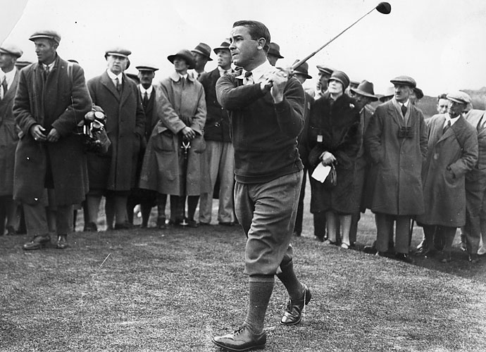 Gene Sarazen - 1935                        Sarazen's historic hole-out for double eagle went a long way toward helping popularize the Augusta National Invitational, aka The Masters. Sarazen was torn between hitting a 3-wood or a 4. He pulled the latter. The result was a blistering shot that flew some 235 yards, cleared a greenside pond and dropped into the hole. The deuce tied Sarazen for the lead with Craig Wood, and he went on to win the only 36-hole playoff in Masters history.