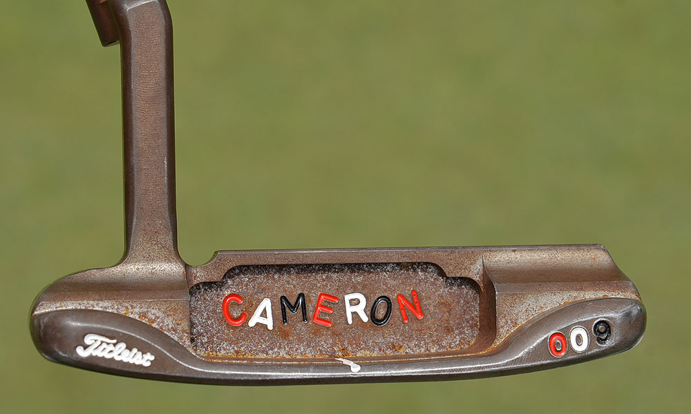 Geoff Ogilvy has this rusty prototype Scotty Cameron for Titleist 009 putter in his bag at the U.S. Open.