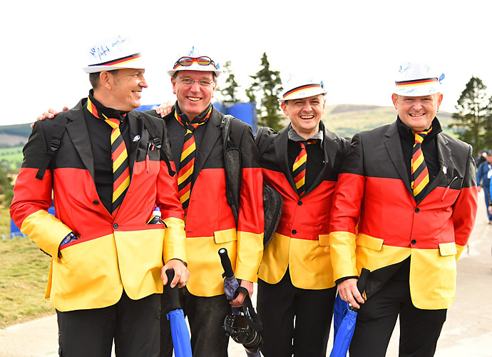 Kaymer got lots of love from these four well-dressed German fans.