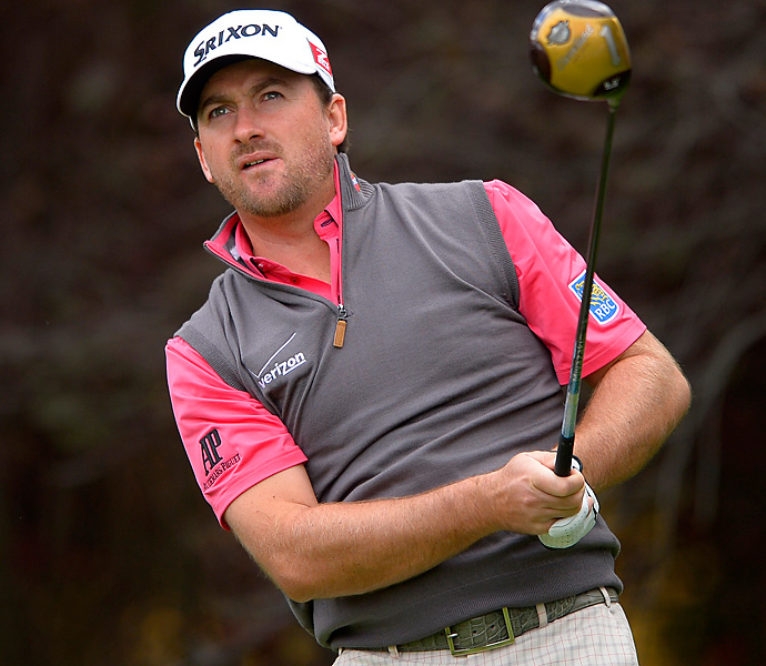 Graeme McDowell is in fourth place after a 67.