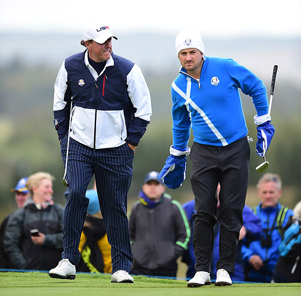 McDowell and Dubuisson won 3 and 2 on a chilly afternoon in Scotland. McDowell was Europe's hero in the 2010 Ryder Cup.
