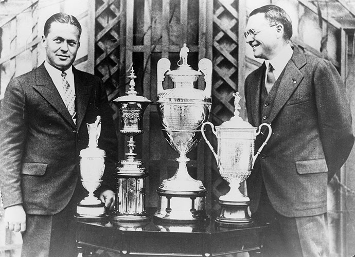 Jones ran the table in 1930 -- almost                       Jones competed in only six tournaments in his Grand Slam year of 1930, winning five of them, including the four majors. The only one he lost, the Savannah Open to start the year, was by one stroke.