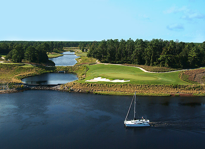 MOST UNDERRATED HOLE [MYRTLE BEACH DIVISION]: I thought I knew Myrtle pretty well, but I hadn't played Grande Dunes until August. Architect Roger Rulewich did an excellent job, and totally surprised me with the pulse-quickening 220-yard, par-3 14th. Downhill tee shot, massive green, gargantuan bunker, superb interaction with the Intracoastal Waterway -- impressive.