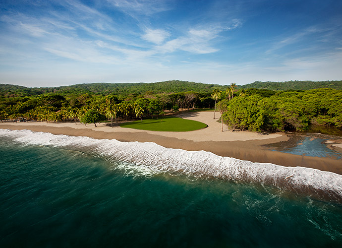 STRANGEST SPOT FOR A GOLF RESORT: I'll bet that even the globe-trotting David McLay Kidd never expected to design a course on the southwest coast of Nicaragua, a country better known for political strife than par 5s. But the Guacalito de la Isla course at Mukul Resort was a delightful surprise, right down to the screeching monkeys that mock mis-hits on the beachside par-3 18th.