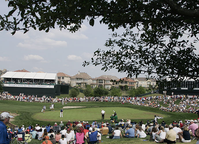 Dallas, Texas                           Call it Irving, call it Las Colinas, or call it North Texas, as they did for the NCAA Men's Basketball Championships last year. It doesn't matter. Fans in the Dallas Metroplex are besotted with their hometown event, the HP Byron Nelson Championship. Even as Mr. Nelson is no longer with us and some of the stars now skip the event, the raucous 17th at the TPC Four Seasons Las Colinas makes it seem like a showdown of Hall-of-Famers is taking place every year.