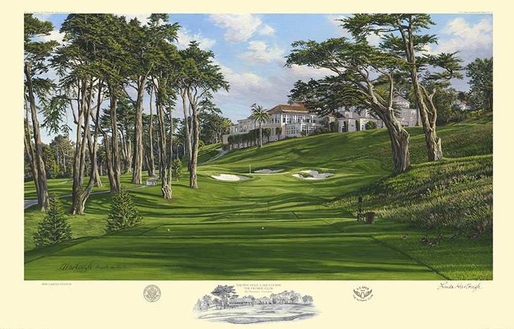 Linda Hartough 2012 U.S. Open Print                       $225, hartough.com                       The U.S. Open is still months away, but you can get Lynn Hartough's limited edition print of the 8th hole at The Olympic Club now.