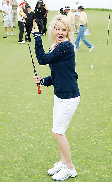 Even Heather Locklear participated in the  Michael Douglas and Friends Celebrity Golf event in Rancho Palos Verdes, Calif.