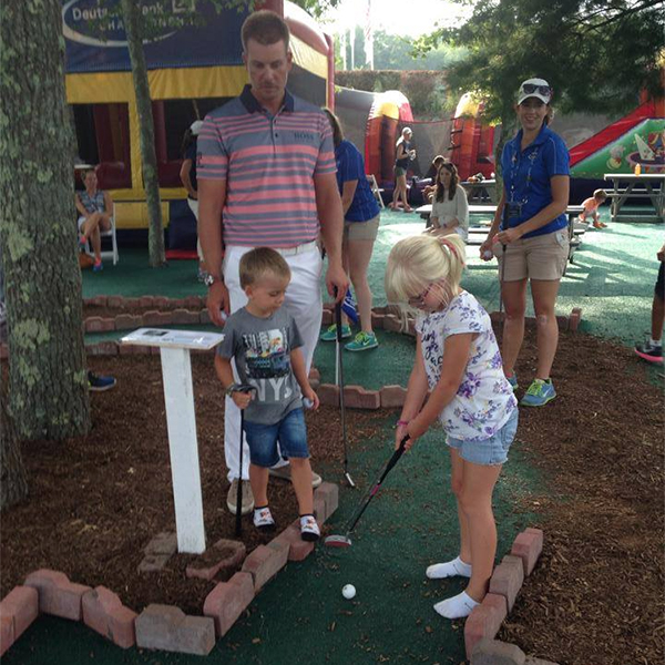 Henrik Stenson Some miniature golf with the kids after today's round.