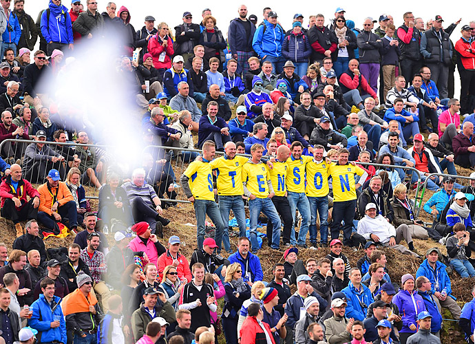 Henrik Stenson had a small but passionate group of supporters on Sunday.