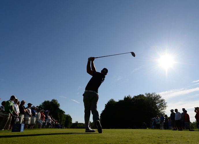 Hunter Mahan was four shots back of the lead after his 68.