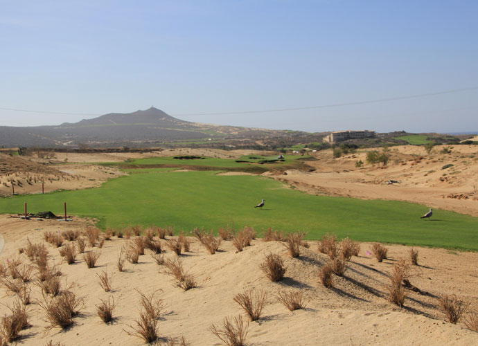 The fairway on El Cardonal's fifth hole. Tiger has said the course is influenced by the traditional-style courses in Southern California, including Riviera and Los Angeles Country Club.