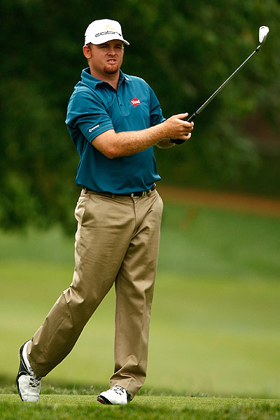 After being named to the U.S. Ryder Cup team, J.B. Holmes can relax. He shot 68 on Friday.
