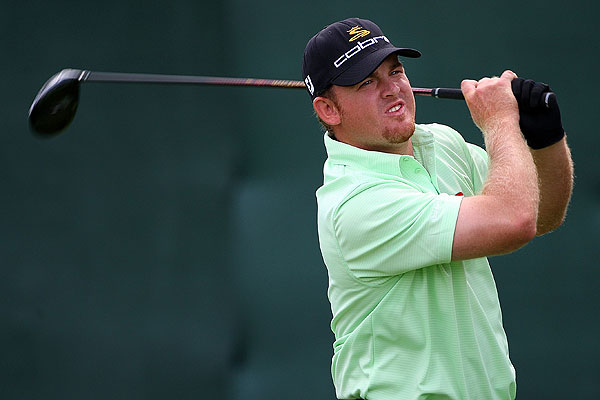 J.B. Holmes, who is trying to earn a spot on the U.S. Ryder Cup team, played his first nine holes in one under par after making birdies at the second and sixth holes.