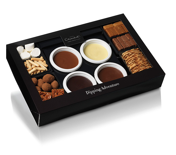 is well-known in the U.K. for its luxurious sweets, but you don't need to book a room to enjoy them. The Chocolate Dipping Adventure ($65) comes with melting pots of white chocolate, milk chocolate, dark chocolate and caramel, as well as marshmallows, breadsticks, crackers, fudge and gianduja cubes. More information at hotelchocolat.com