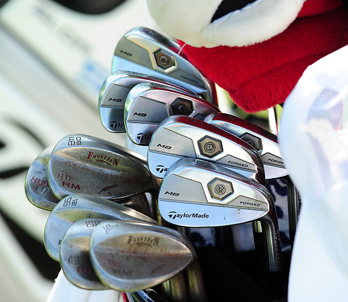 Nationwide Tour player Hudson Swofford is one of a few pros who use wedges made by Fourteen.